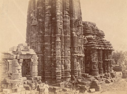 View from south-west of façade of Yameshvara Temple, Bhubaneshwar